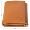 Tri-fold Texas Leather Wallet- Light Brown and Olive