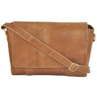AzraJamil's Men & Women Genuine Leather Messenger Bag