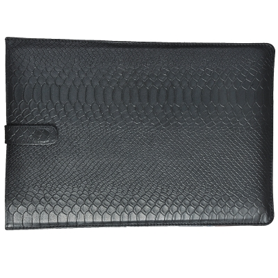 Black Anaconda Emboss on 100% Genuine Leather Slim Laptop Sleeve