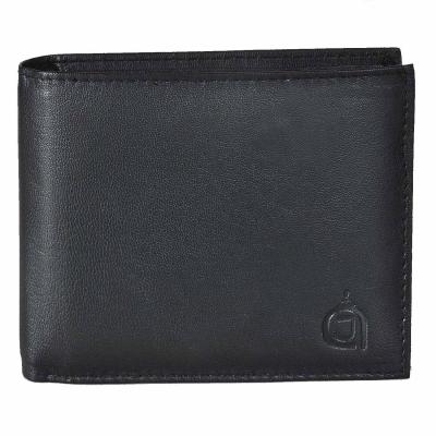 Premium Bi-fold leather wallet-Black