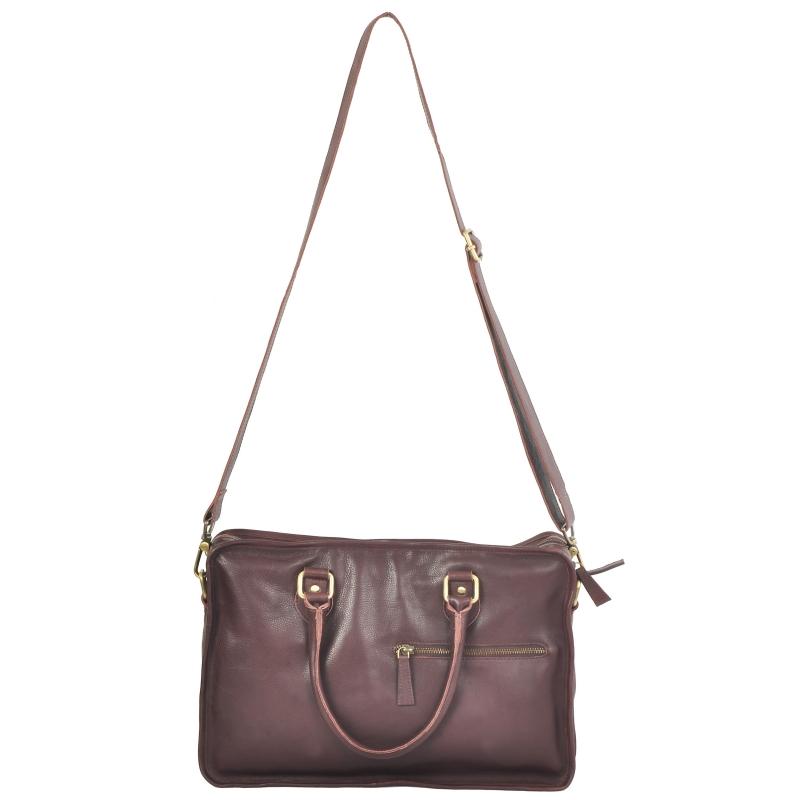 AzraJamil's Men's Genuine Leather Laptop Bag
