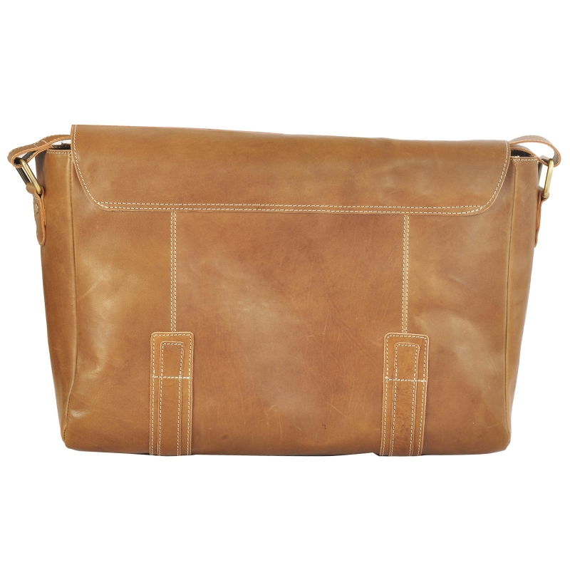 AzraJamil's Men & Women Genuine Leather Messenger Bag