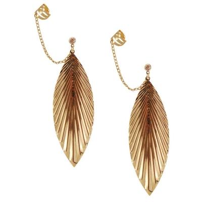 Habors Rhinestone Dangle & Drop Earring For Women (Gold)
