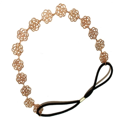 Habors Gold Roses Hair Chain for Women