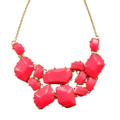 Habors Pink Asymmetric Stack Necklace for Women