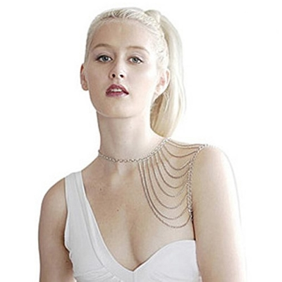Habors Silver Multilayer Shoulder Chain