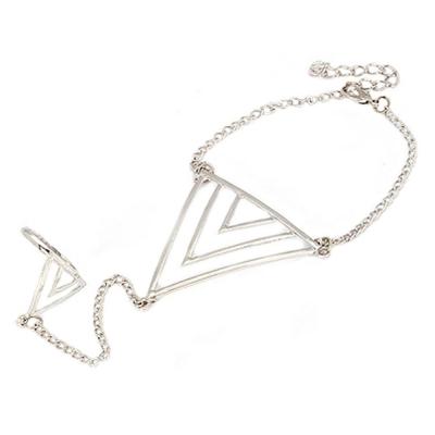 Habors Silver Kohar Bracelet connected ring for Women