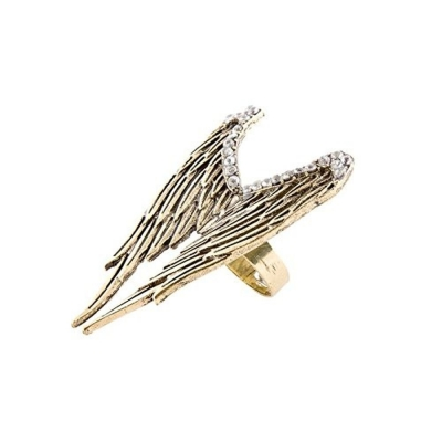 Habors Gold Angel Wings Ring for Women