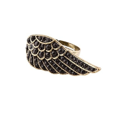 Habors Gem Embellished Wings Ring for Women