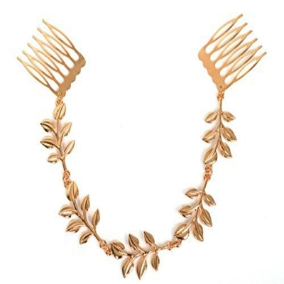 Habors Gold Leaves Hair Chain
