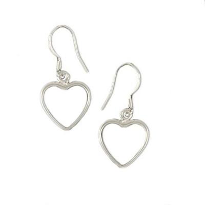 Silverswan 925 Sterling Silver Plated Heart Drop Earrings for Women