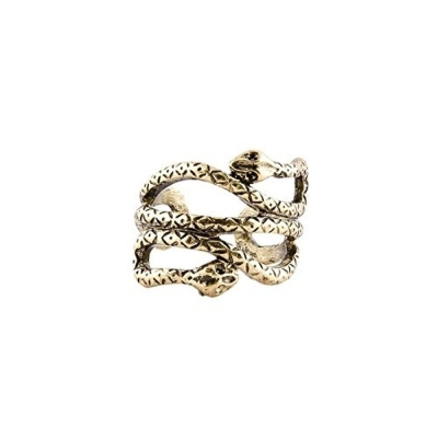 Habors Bronze Curled Snakes Ring for Women