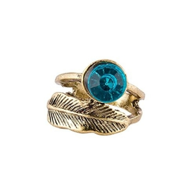 Habors Blue Diamond Leaf Ring for Women