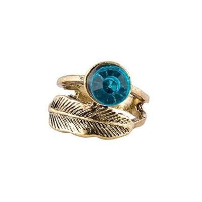 Habors Blue Diamond Leaf Ring for Women