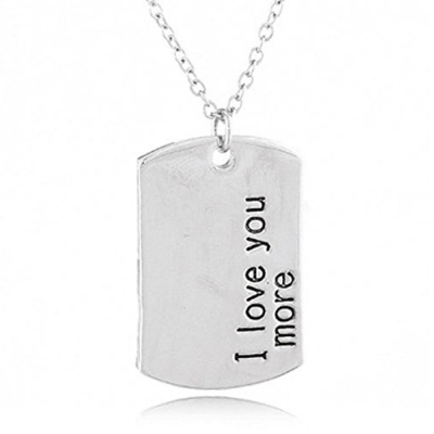 Habors Stylish I Love U More Necklace (JFND0454)