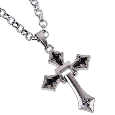 Habors Silver Cross Chain Necklace for Men & Women