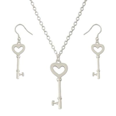 Silverswan 925 Sterling Silver Plated Key To Heart Jewellery Set for Women