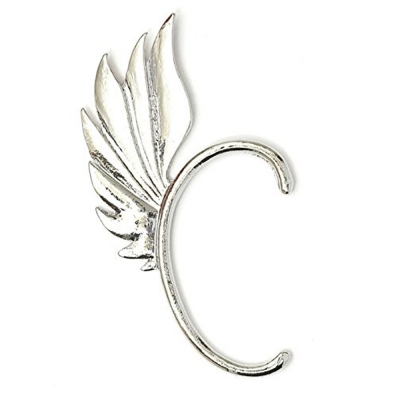Habors Silver Feather Wing Ear Cuff