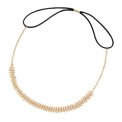 Habors Gold Fish Bone Hair Chain for Women
