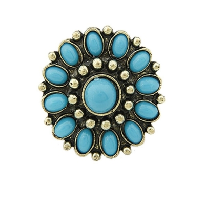 Habors gold plated Ring For Women ( Blue )