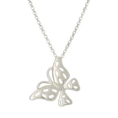 Silverswan 925 Sterling Silver Plated Butterfly Pendant Necklace For Women