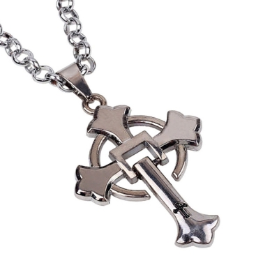 Habors Silver Celtic Cross Chain Necklace