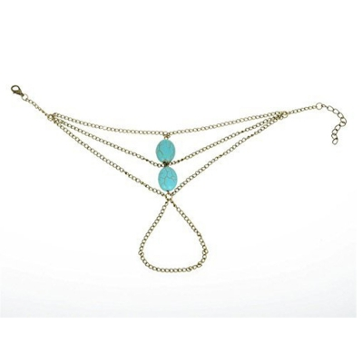 Habors Metal Chain For Girls ( Blue )