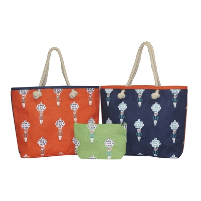 Captain Beach Bag With Rope Handles (BEACH002)