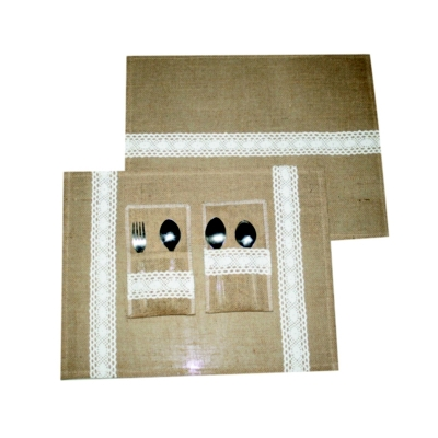Jute And Lace Placemats (HOME003)