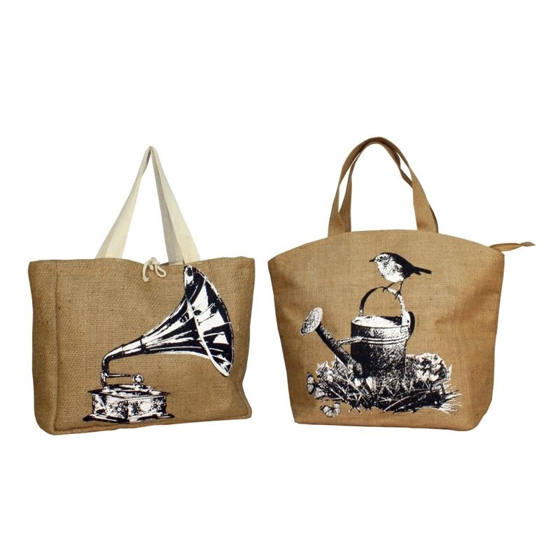 Retrospective Jute Tote Bags (TRENDSETTER009)