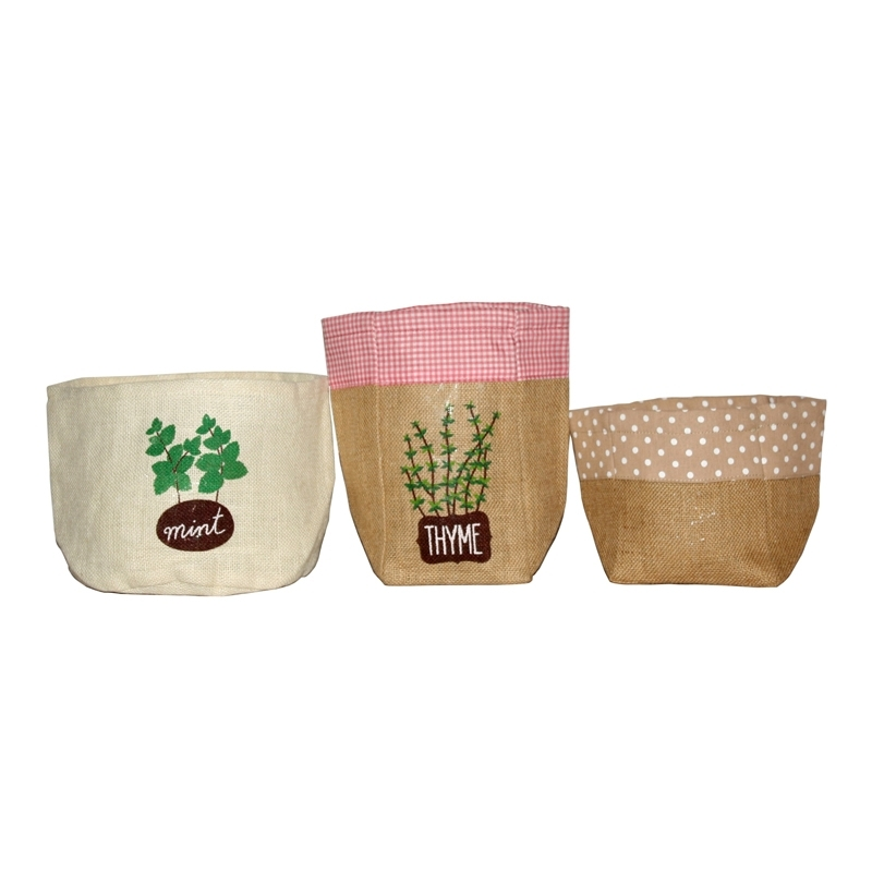 Jute Herb Pot Holders (HOME009)