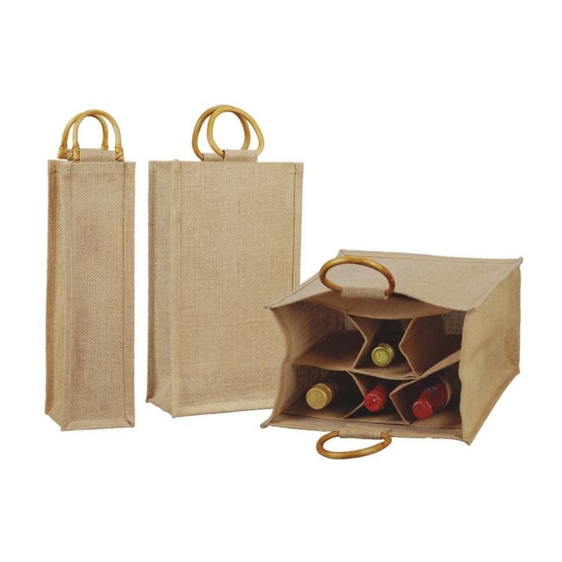 Wooden Cane Handle Wine Bag (WINE004)