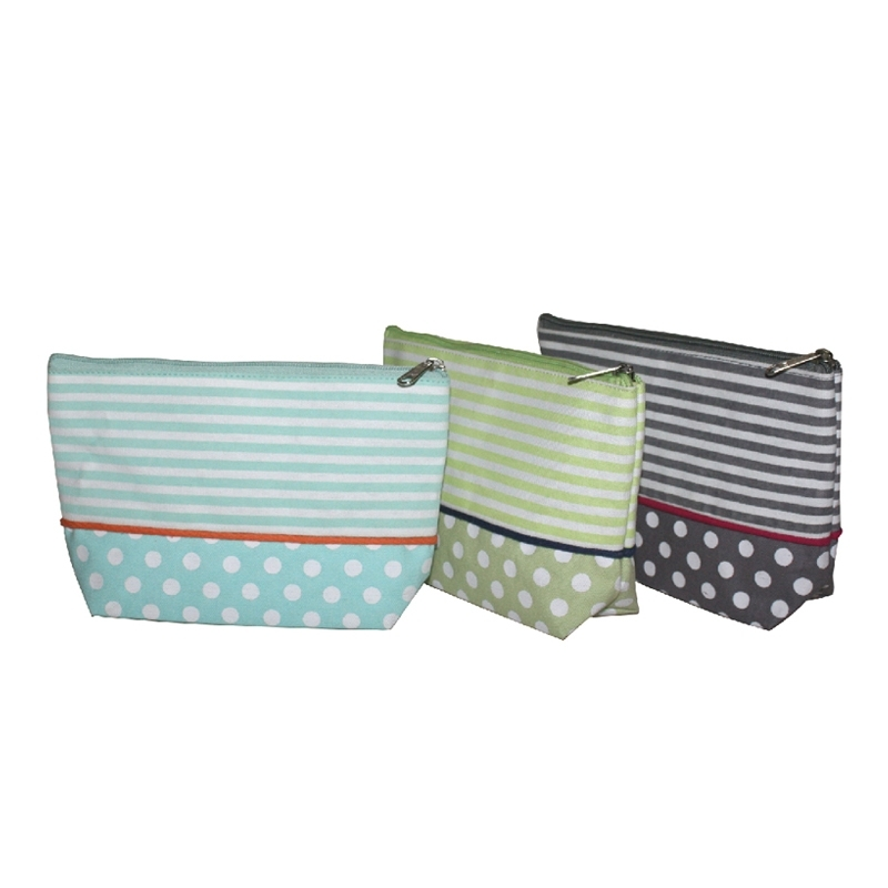 Stripes And Polka Cosmetic Pouches (COSMETIC006)