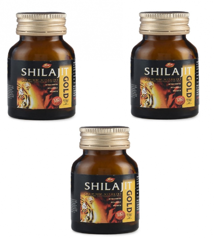 Dabur Shilajit Gold 20 Caps pack of 3