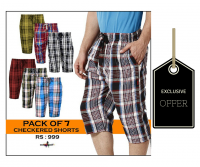 Checkered Shorts Combo Pack Of 7