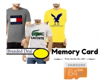 Any 1 Branded T-Shirts & Get 64 GB Memory Card Free !!