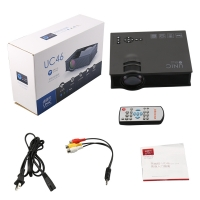 LED Corded Portable Projector(Black)