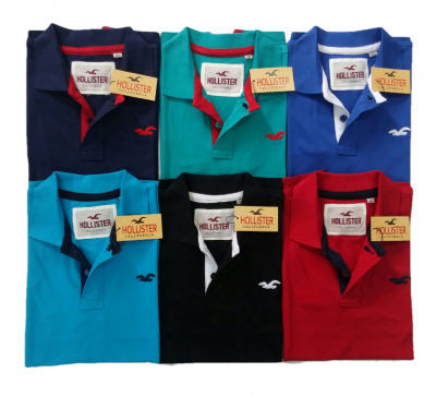 Pack Of 6 Hollister Polo T-Shirts