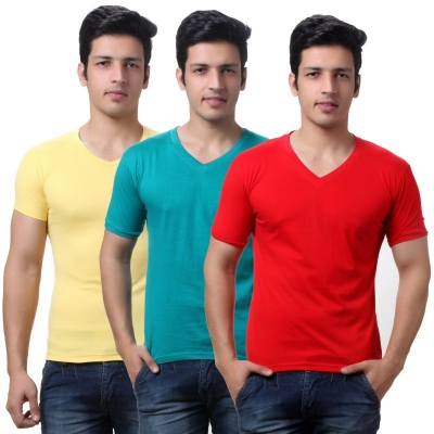 Combo Pack Of 3 R or V Neck T-shirt