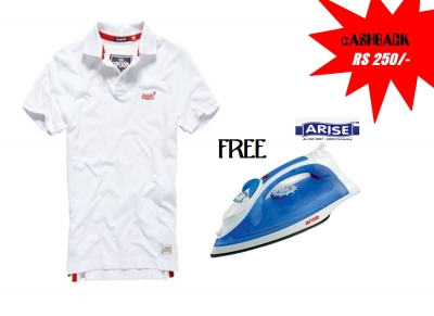 Superdry polo T-shirt Buy & Get Arise Iron Free !