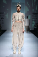 Organza crop top with dhoti pant