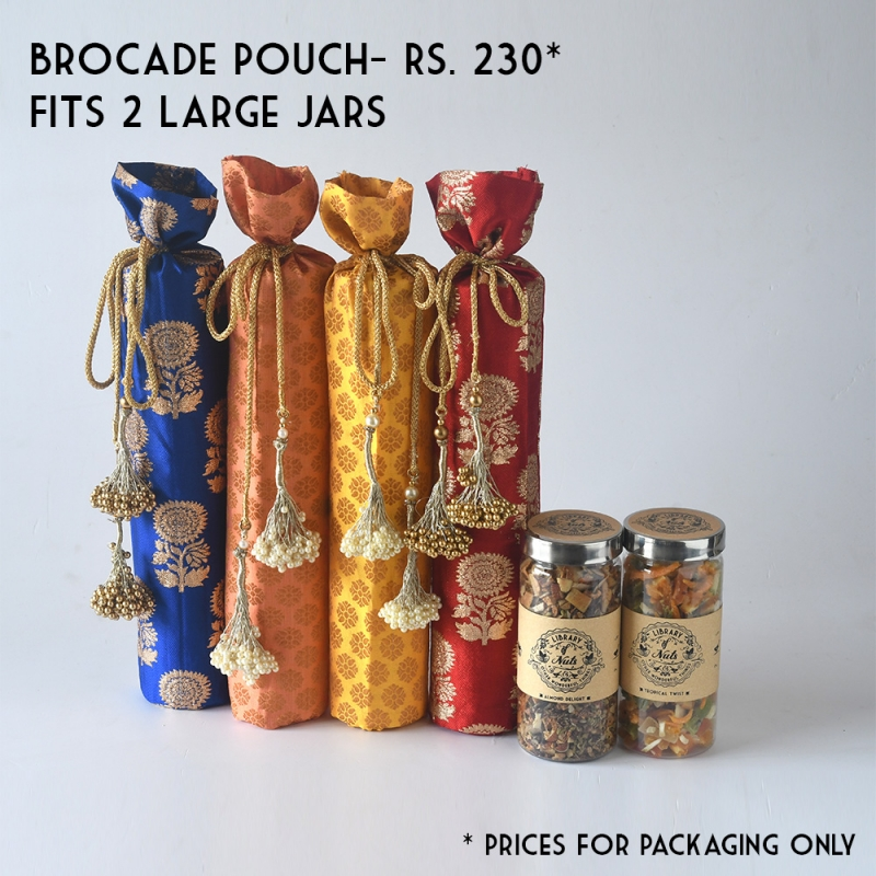 Brocade Tall And Small Pouch