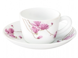 Lily Blossom 12 Pc Cup Saucer Set
