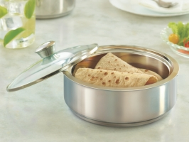Stainless Steel Insulated Roti Server with Coaster, 1150 ml