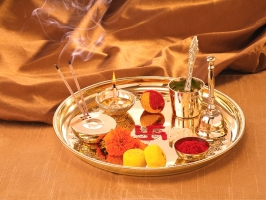 Borosil Brass Puja Thali