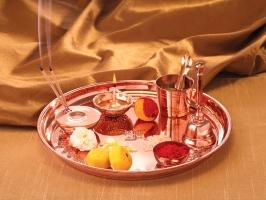 Borosil Copper Puja Thali