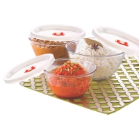 Mixing Bowl With Plastic Lid (Set of 3)
