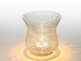 White Sparkle Tea Light