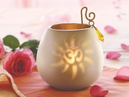 White Decorative Tea Light
