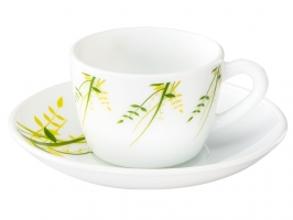 Green Herbs 12 Pc Cup Saucer Set